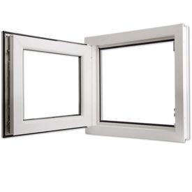 Fereastră oscilobatantă PVC, 3 foi sticlă, mâner dreapta, 600 x 600 mm