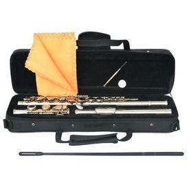 Flaut cu 16 găuri cu toc moale, argintiu