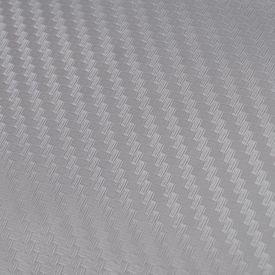 Folie auto vinil fibră de carbon 3D argintiu 152 x 500 cm