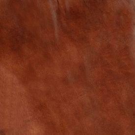 Fotoliu balansoar, maro, piele naturală și lemn masiv de mango