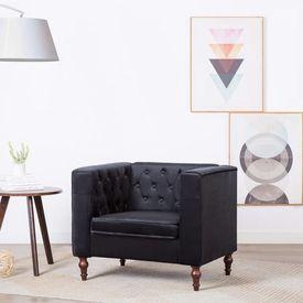 Fotoliu cu tapițerie din catifea, 86 x 67 x 71 cm, negru