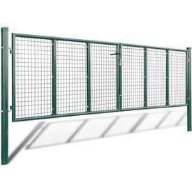 Gard din plasă pentru grădină 415 x 175 cm/400 x 125 cm