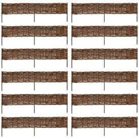 Gard din salcie 120 x 35 cm 12 buc