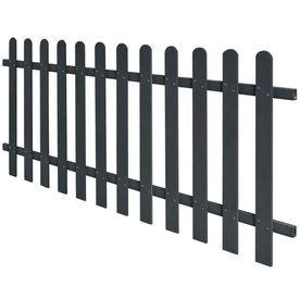 Gard din șipci, lemn compozit, 200x80 cm, gri