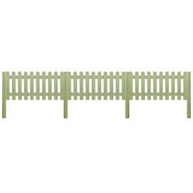 Gard din țăruși, lemn de pin tratat, 5,1 m 130 cm 6/9cm