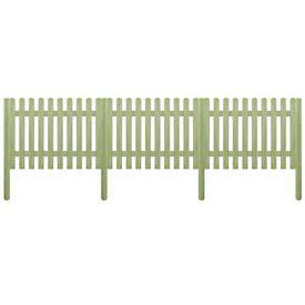 Gard din țăruși, lemn de pin tratat, 5,1 m 170 cm 6/9cm