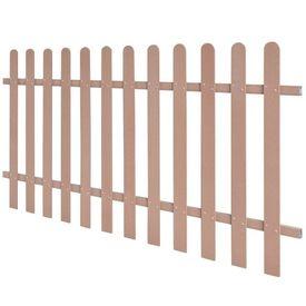 Gard pe țăruși, WPC, 200 x 100 cm, maro