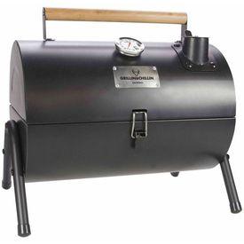 Gusta Grătar și afumător cu cărbuni 2-în-1, negru 03251000