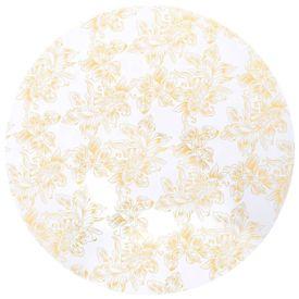Huse elastice de masă, 2 buc., alb cu imprimeu auriu, 70 cm