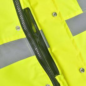Jachetă reflectorizantă pentru bărbați, poliester, L, galben