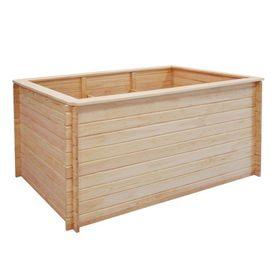 Jardinieră pentru grădină, lemn de pin 19 mm 150x50x80 cm