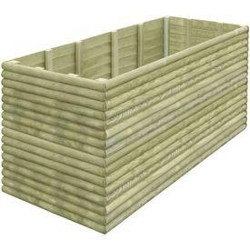 Jardinieră pentru grădină, lemn de pin tratat, 106x106x96 cm