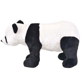 Jucărie de pluș urs panda în picioare, negru și alb, XXL