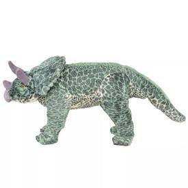 Jucărie de pluș verticală dinozaur triceratops, verde, XXL