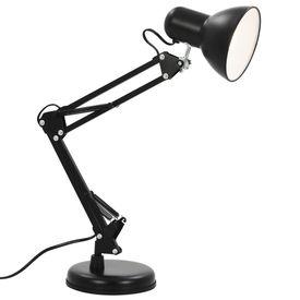 Lampă de birou cu braț reglabil, negru, E27