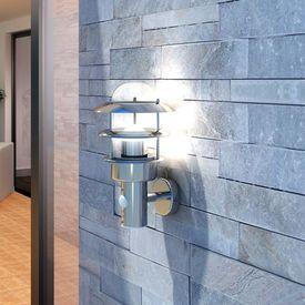 Lampă de perete din oțel inoxidabil cu senzor de mișcare