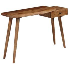 Masă consolă, lemn masiv de acacia, 115 x 35 x 76 cm
