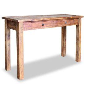 Masă consolă, lemn masiv reciclat, 123 x 42 x 75 cm