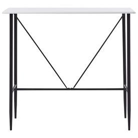 Masă de bar, alb, 120 x 60 x 110 cm, MDF