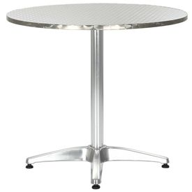 Masă de grădină, argintiu, 80 cm, aluminiu