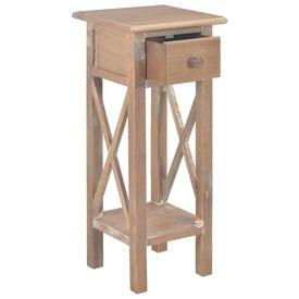 Masă laterală din lemn, maro, 27x27x65,5 cm, lemn