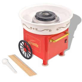 Mașină vată de zahăr cu roți, 480 W, roșie