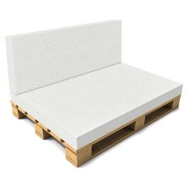 [neu.haus]® Saltea burete fara husa pentru mobilier paleti gradina HTSK-2201, poliuretan, 40 x 120 x 8 cm, poliuretan, alb