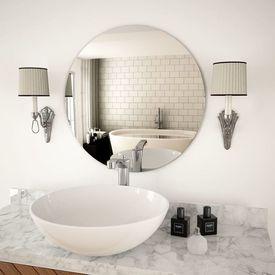 Oglindă de perete, 60 cm, sticlă, rotundă