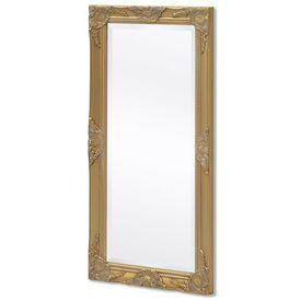 Oglindă de perete în stil baroc, 100 x 50 cm, auriu