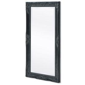 Oglindă de perete în stil baroc, 100 x 50 cm, negru