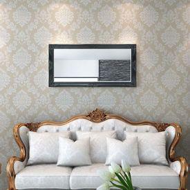 Oglindă verticală în stil baroc, 120 x 60 cm, negru