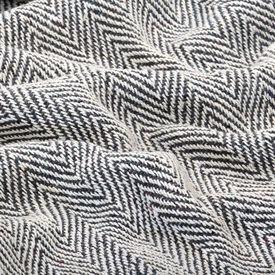 Pătură decorativă model spic, bumbac, 125 x 150 cm, bleumarin