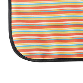 Patura picnic - rosu - galben in dungi; masura: 200 x 190 cm