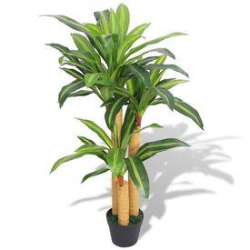 Plantă Dracena artificială cu ghiveci, 100 cm, verde