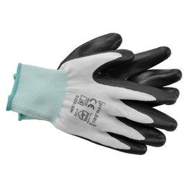 [pro.tec]® Manusi protectia muncii, 24 perechi, M (22,5 cm), poliester/nitril, negru/alb/verde, ideale pentru gradinarit