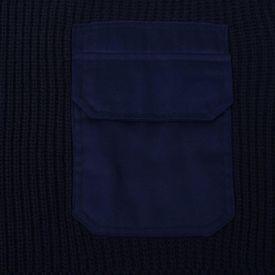 Pulovere de lucru bărbați 3 buc. bleumarin/kaki/negru L