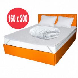 Saltea Ulise Standard Spring Comfort 160x200 plus 2 perne plus Husa hipoalergenica plus Pilota vara microfibra 180x200