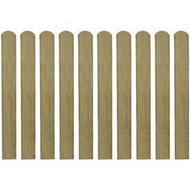 Scândură de gard din lemn tratat 80 cm, 10 buc.