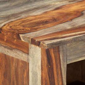Servantă, gri, 100x30x50 cm, lemn masiv de sheesham