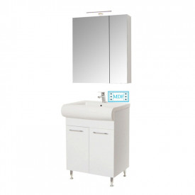 Set Baza, lavoar baie GN0551 si oglinda Celine - 60 cm alb