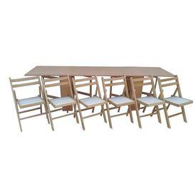 Set masa plianta de 12 persoane fag