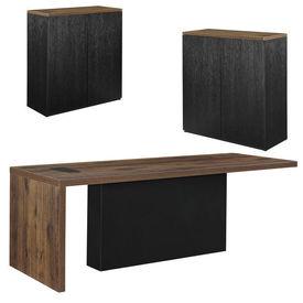 Set mobilier birou - birou design cu 2 dulapuri pentru documente