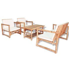 Set mobilier de grădină 12 piese, bambus