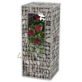 Stâlp coș gabion/jardinieră, oțel, 50 x 50 x 120 cm