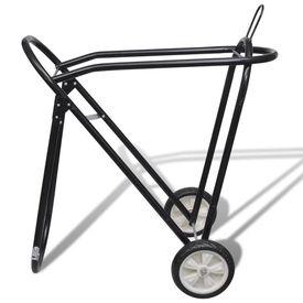 Suport metalic de șa pliabil cu roți