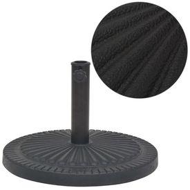 Suport umbrelă de soare, rășină, rotund, negru, 29 kg
