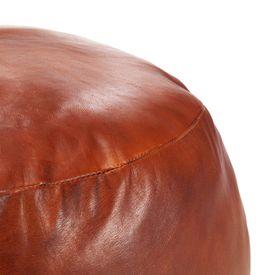 Taburet, cafeniu, 60 x 30 cm, piele naturală de capră