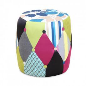 Taburete material textil imprimat/patchwork GL DEMA
