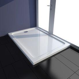 Tavă de duș dreptunghiulară din ABS, 70 x 100 cm, alb