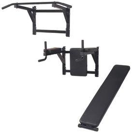 Turn Fitness multifuncțional de perete, negru